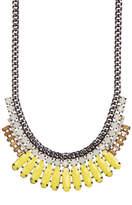 Natasha Accessories Stone Bib Necklace