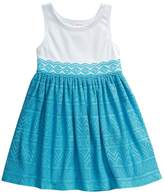 Youngland Toddler Girl Crochet Textured Dress