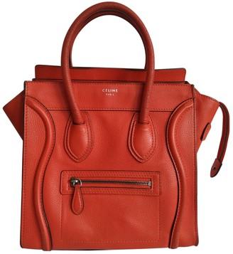 Celine Luggage Orange Leather Handbags