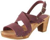 Sanita Women's Olympia Square Flex Sandale Wedge Heels Sandals purple Size: 5
