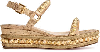 Christian Louboutin Pyradiams 60 liege pepite gold wedges