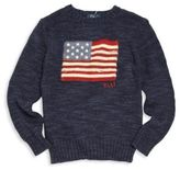 Ralph Lauren Toddlers, Little Boys & Boys Flag Intarsia Sweater