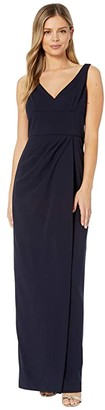 Adrianna Papell Knit Crepe Dress (Midnight) Women's Dress