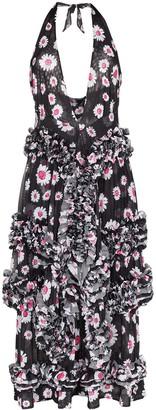 Molly Goddard Daisy Print Ruffled Dress