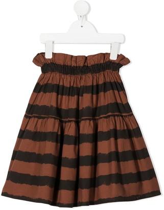 Stripe Paperbag-Waist Skirt
