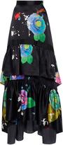 Cynthia Rowley Charmeuse floral Maxi Skirt