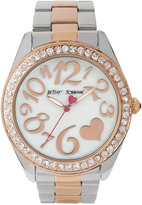Betsey Johnson Women's Two-Tone Stainless Steel Bracelet Watch 44mm BJ00249-39