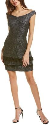 Laundry By Shelli Segal Feather Hem Mini Dress