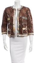 Anna Sui Sequined Cropped Jackets