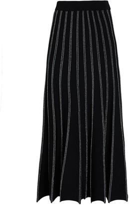 Intermix Keelan Pleated Knit Midi Skirt