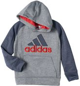 adidas Boys 4-7x Fleece-Lined Space-Dyed Classic Embroidered Logo Pullover Hoodie