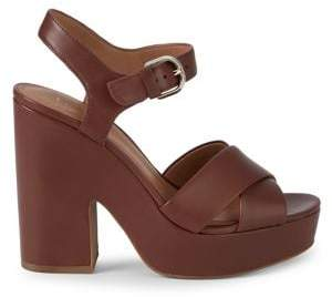 Kate Spade Grace Leather Platform Sandals