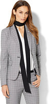 New York & Co. 7th Avenue Design Studio - One-Button Jacket - Modern Fit - Black & White Plaid - Petite