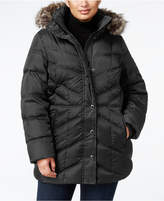 London Fog Plus Size Faux-Fur Hooded Puffer Coat