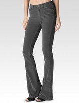 Paige High Rise Bell Canyon - Granite Grey Corduroy