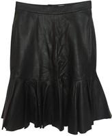 Iris & Ink Black Leather Skirt for Women