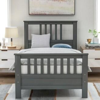 Red Barrel Studioâ® Freja Twin Solid Wood Platform Bed Red Barrel StudioA Color: Gray