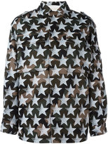Valentino star print military jacket - women - Cotton - 40