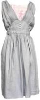 Armani Collezioni Grey Linen Dress for Women