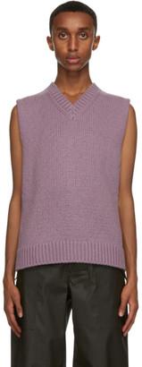Bottega Veneta Purple Wool and Cashmere Sweater Vest