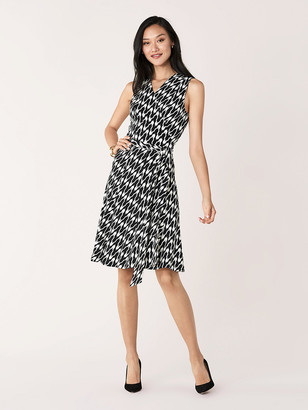 Diane von Furstenberg Jasmine Jersey-Blend Sleeveless Wrap Dress