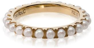 Rosa de la Cruz 18k Yellow Gold Pearl Ring