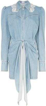 Magda Butrym Wicksville denim mini dress