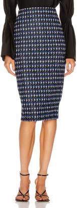Victoria Beckham Pencil Skirt in Cobalt Black   FWRD