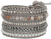 Chan Luu Holiday Swarovski Pearl, Crystal, Agate & Leather Bracelet