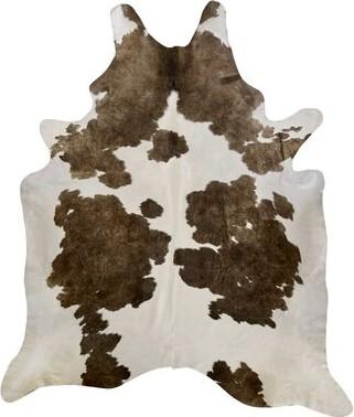 "Saddlemans Animal Print Handmade Cowhide White/Brown Area Rug Rug Size: Novelty 6' x 7'6"""
