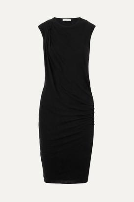 James Perse Nomad Draped Cotton-jersey Dress - Black