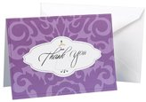 Hortense B. Hewitt Wedding Accessories Wedding Gown Damask Thank You Cards, 25-Pack