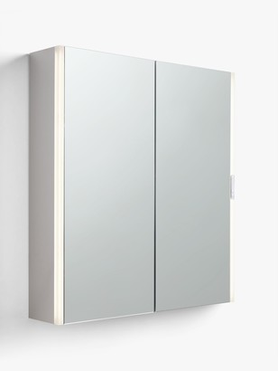 John Lewis & Partners Double Mirrored and Slider Control Illuminated Bathroom Cabinet