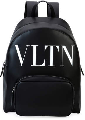 Valentino Garavani Men's VLTN Leather Backpack