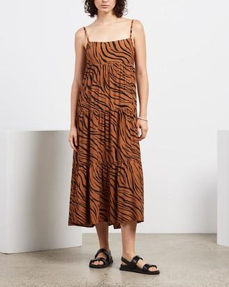 Faithfull The Brand Women's Black Midi Dresses - Corvina Midi Dress - Size XS at The Iconic