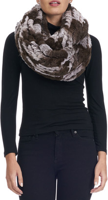 Gorski Knit Fur Infinity Scarf