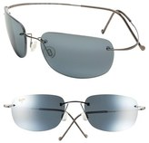 Maui Jim Women's 'Kapalua' 57Mm Hingeless Sunglasses - Black/ Gunmetal