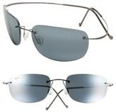 Maui Jim Women's Kapalua 57Mm Polarizedplus2 Hingeless Sunglasses - Black/ Gunmetal
