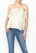 Olivaceous Python Ruffle Tank