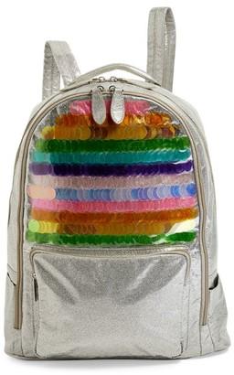 Bari Lynn Multi-Sequin Backpack