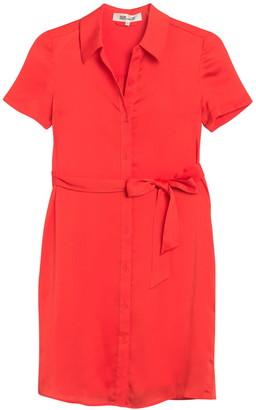 Diane von Furstenberg Kadina Short Sleeve Shirt Dress