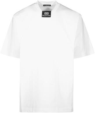 Balenciaga Logo Print Crewneck T-Shirt