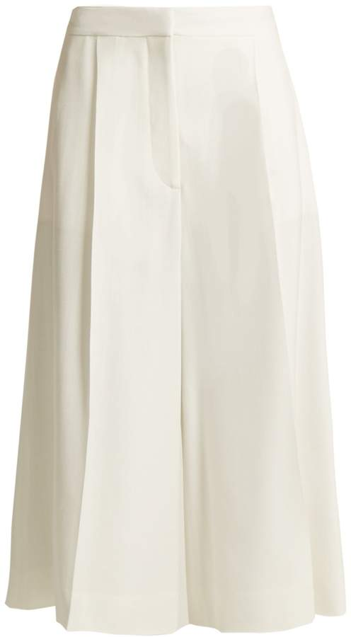 Stella McCartney Olivier high-rise wide-leg cropped trousers