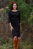 Shabby Apple Gingerbread Black Sheath Dress