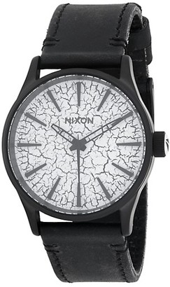 Nixon Stainless Steel Leather-Strap Watch