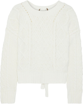 Line Knotted Cable-knit Cotton-blend Sweater