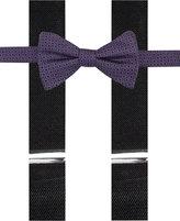 Alfani Purple Bow Tie & Suspender Set, Only at Macy's