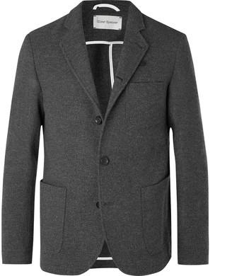 Oliver Spencer Grey Solms Wool And Cotton-Blend Blazer