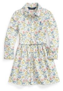 Polo Ralph Lauren Little Girls Floral Belted Shirtdress
