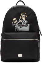 Dolce & Gabbana Black Nylon Dj Designers Backpack